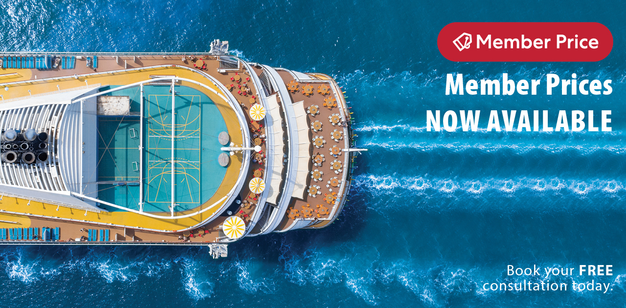 You could win Ship to Shore Magic from Expedia® CruiseShipCenters!