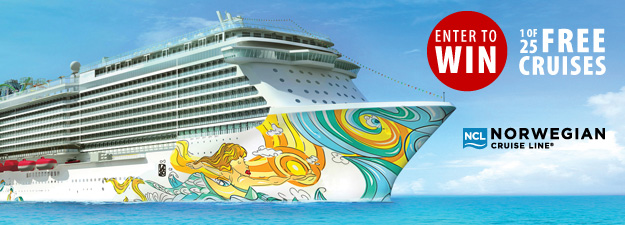 Enter to Win 1 of 25 Free Cruises